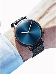cheap -Men's Women's Dress Watch Wrist Watch Quartz Black / Silver Chronograph Creative New Design Analog Classic Elegant Minimalist - Black Gold / Black Silver / Blue One Year Battery Life / SSUO 377