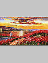 cheap -Mintura® Hand Painted Flower Landscape Oil Painting On Canvas Modern Abstract Wall Art Picture For Home Decoration Ready To Hang
