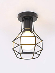 cheap -Modern Industrial Mini Metal Cage Ceiling Light Restaurant Cafe 1-Light Vintage Style Flush Mount Light