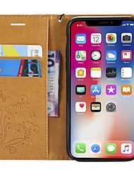 cheap -Case For Apple iPhone X / iPhone 8 Plus / iPhone 8 Wallet / Card Holder / with Stand Full Body Cases Butterfly Hard PU Leather
