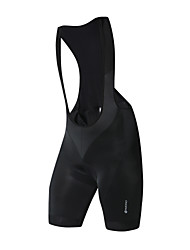 Недорогие -Nuckily Муж. Велошорты-комбинезоны Велоспорт Велошорты Шорты с защитой Брюки Виды спорта Сплошной цвет Полиэстер Спандекс Черный Одежда Одежда для велоспорта / Слабоэластичная