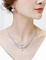 cheap -Women's Cubic Zirconia Drop Earrings Pendant Necklace Stylish Swan Drop Classic Fashion Earrings Jewelry White For Wedding Engagement