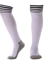 Недорогие -Подростки Футбольные носки Спортивные носки Футбольные Носки Хлопок Мальчики Девочки В полоску Компрессионные носки Длинные носки Бег Баскетбол Бейсбол Дышащий Впитывает пот и влагу Зима