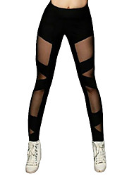 cheap -Latin Dance Leggings / Tights Women's Training / Performance Elastic / Charmeuse Split Joint High Pants