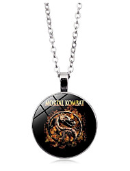 cheap -Men's Pendant Necklace Long Necklace Single Strand Trace Dragon Head Simple Casual / Sporty Glass Alloy Black Blue Orange 50 cm Necklace Jewelry 1pc For Street Club