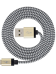 cheap -Lightning Cable >=3m / 9.8ft Braided Nylon USB Cable Adapter For iPad / Apple / iPhone