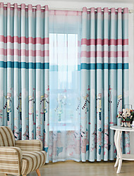 cheap -Two Panel Children's Room Cartoon Anime Style Printed Blackout Curtains