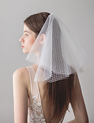cheap -Four-tier Sweet Wedding Veil Shoulder Veils with Splicing 15.75 in (40cm) Tulle / Classic