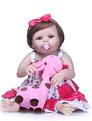 cheap -NPKCOLLECTION NPK DOLL Reborn Doll Girl Doll Baby Girl 24 inch Full Body Silicone Vinyl - Newborn Gift Artificial Implantation Blue Eyes Kid's Girls' Toy Gift