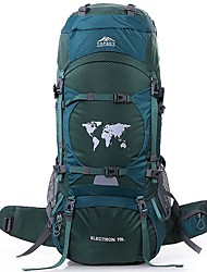 cheap -TOPSKY 70 L Rucksack Waterproof Breathable Wear Resistance High Capacity Outdoor Hiking Climbing Ski Nylon Orange Dark Green
