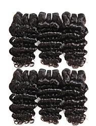 cheap -6 Bundles Indian Hair Deep Wave Human Hair Unprocessed Human Hair Natural Color Hair Weaves / Hair Bulk Bundle Hair One Pack Solution 8-28 inch Natural Color Human Hair Weaves Women Thick 100% Virgin