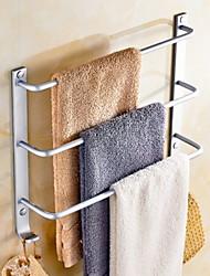 Недорогие -Держатель для полотенец Новый дизайн / Cool Современный Алюминий 1шт Полотенцесушитель 3 На стену
