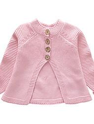 abordables -Enfants Fille Basique Quotidien Couleur Pleine Manches Longues Normal Rembourré Coton Gris Clair