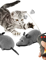 cheap -Mouse Toy Cat Toys Set Emulation Toys Interactive Cat Toys Fun Cat Toys Cat Kitten Cat Toy Remote Control / RC Walking Electronic Wireless Novelty Plush Flocking Gift Pet Toy Pet Play