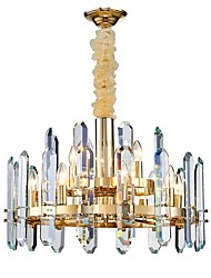 cheap -12 Bulbs 58 cm Chandelier Crystal Electroplated Modern 110-120V 220-240V