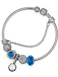 cheap -Women's Bracelet Bangles Stylish Flower Ladies Vintage European Fashion Imitation Pearl Bracelet Jewelry Dark Blue / Red / Light Blue For Party / Resin / Rhinestone