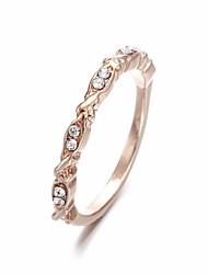 cheap -Ring Cubic Zirconia Classic Rose Gold Rhinestone Alloy Leaf Wave Ladies Stylish Simple 1pc 6 7 8 9 10 / Women's