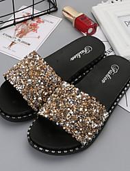 abordables -Pantoufles pour Femme Maison chaussons Forme Géometrique Plastique Perles Chaussures