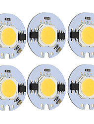 cheap -9W Round COB Led Chip Smart IC AC 220V for DIY Ceiling Light Downlight Spotlight Warm/Cold White (6 Pcs)