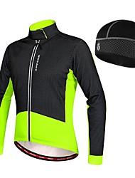 cheap -WOSAWE Men's Cycling Jacket Bike Winter Fleece Jacket Jersey Hat Thermal / Warm Fleece Lining Sports Elastane Fleece Winter Black / Red / Green / Black Mountain Bike MTB Road Bike Cycling Clothing