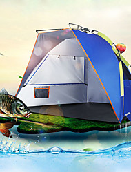cheap -2 person Beach Tent Outdoor UV Resistant Rain Waterproof Single Layered Automatic Camping Tent 1000-1500 mm for Fishing Beach Camping / Hiking / Caving PE 235*120*120 cm