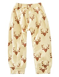 cheap -Baby Boys' Active / Basic Daily / Sports Print Print Cotton Pants Brown / Toddler
