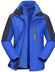 cheap -Men's Hiking 3-in-1 Jackets Hiking Jacket Winter Outdoor Windproof Breathable Rain Waterproof Quick Dry Jacket 3-in-1 Jacket Waterproof Single Slider Ski / Snowboard Camping / Hiking / Caving Back