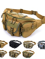 cheap -Hiking Waist Bag Military Tactical Backpack Camouflage Expandable Multifunctional Rain Waterproof Wear Resistance Multi Pocket Outdoor Hiking Camping Oxford Blue Grey