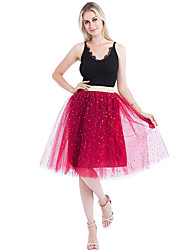 cheap -Wedding Party / Party / Cocktail Slips Nylon Knee-Length Tutus & Skirts / Bridal with Star