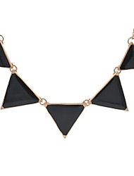 cheap -Women's Necklace Vintage Style Stylish Creative Ladies Simple Geometric Fashion Alloy Black 50 cm Necklace Jewelry 1pc For Daily Street