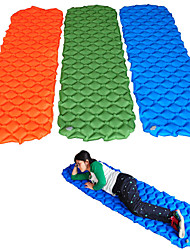 cheap -Inflatable Sleeping Pad Air Pad Outdoor Portable Lightweight Moistureproof Comfortable TPU Nylon 195*58*5 cm Camping / Hiking Hunting Fishing Autumn / Fall Spring Summer Orange Green Blue