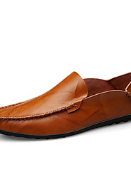 cheap -Men's Formal Shoes Microfiber Spring & Summer / Fall & Winter Business / Casual Loafers & Slip-Ons Breathable Black / Brown / Wine