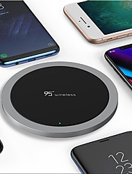 cheap -Nine Five NT1 universal fast charge ultra thin zinc alloy qi wireless charger for apple iphone X