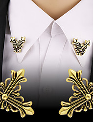 cheap -Men's Brooches Retro Stylish Creative Flower Fashion Hip-Hop Ancient Rome Brooch Jewelry Gold Silver For Masquerade Work