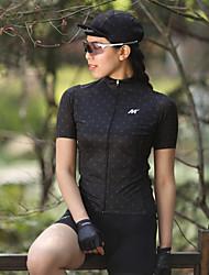 cheap -Mysenlan Women's Short Sleeve Cycling Jersey Black White Polka Dot Bike Jersey Top Mountain Bike MTB Road Bike Cycling Sports Polyester Clothing Apparel / YKK Zipper
