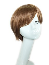 cheap -Synthetic Wig Straight Layered Haircut Short Bob Wig Short Light Brown Synthetic Hair 10 inch Women's Women Synthetic Natural Light Brown / Natural Hairline / Natural Hairline