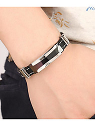 cheap -Men's Bracelet Bangles Classic Stylish Creative Stylish Simple Stainless Steel Bracelet Jewelry Black For Wedding Daily