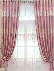 cheap -Modern Sheer Curtains Shades Two Panels Sheer / Embroidery / Living Room