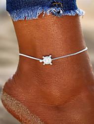 cheap -Anklet Ankle Bracelet Ladies Simple Bohemian Women's Body Jewelry For Holiday Bikini Retro Yoga Alloy Turtle Silver 1pc