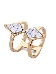 cheap -Women's Ring White Turquoise 1pc Gold Marble Alloy Round Trendy Hip-Hop Folk Style Holiday Valentine Jewelry Stylish Rope Cool