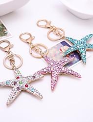 cheap -Keychain Star Diamond / Rhinestone Decorated Case Fashion Imitation Diamond Ring Jewelry White / Blue / Pink For Gift Daily