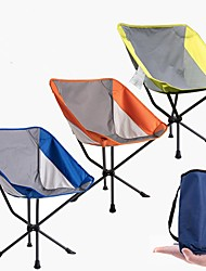 cheap -Camping Chair Portable Lightweight Mini Breathable Oxford Cloth Mesh Steel Stainless for Camping / Hiking Fishing Beach Outdoor Autumn / Fall Spring Yellow Orange Dark Blue / Foldable