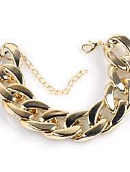 cheap -Men's Bracelet Cuban Link Thick Chain Creative Simple Trendy Hyperbole Alloy Bracelet Jewelry Gold For Street Bar