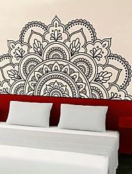 Недорогие -Геометрия / Цветы Наклейки 3D наклейки Декоративные наклейки на стены, Пластиковые & Металл / Винил Украшение дома Наклейка на стену Стена / Окно Украшение 1шт / Съемная