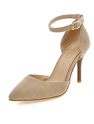 cheap -Women's Heels D'Orsay & Two-Piece Stiletto Heel Pointed Toe Buckle Suede Minimalism Spring &  Fall Black / Beige / Wine / Wedding / Party & Evening / Party & Evening