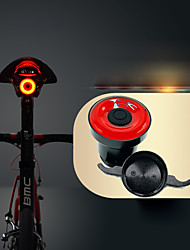 cheap -LED Bike Light Safety Light Bike Horn Light Mountain Bike MTB Bicycle Cycling Waterproof Smart Induction Invisible Lightweight Li-ion 50 lm USB Red Cycling / Bike