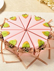 cheap -Triangle Card Paper Favor Holder with Ribbons Favor Boxes - 10pcs