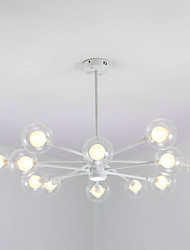 cheap -12 Bulbs QINGMING® 104 cm Mini Style Chandelier Metal Glass Sputnik Painted Finishes Contemporary / Chic & Modern 110-120V / 220-240V