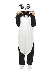 cheap -Adults' Kigurumi Pajamas Panda Onesie Pajamas Polar Fleece Maroon / Black / White / Orange Cosplay For Men and Women Animal Sleepwear Cartoon Festival / Holiday Costumes