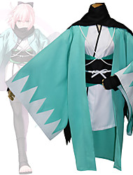 cheap -Inspired by Fate / Grand Order FGO Okita Souji Anime Cosplay Costumes Japanese Cosplay Suits Geometic Long Sleeve Kimono Coat For Women's